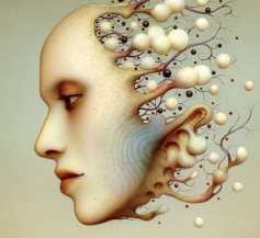 Artwork by Japanese surrealist painter Naoto Hattori